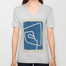 abstract minimal 57 Unisex V-Neck