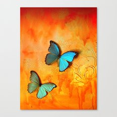 Blue Morphos on Mars Canvas Print
