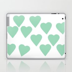 Hearts Mint Laptop & iPad Skin