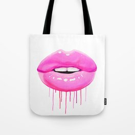Pink lips Tote Bag