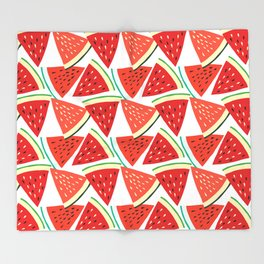 Sliced Watermelon Throw Blanket