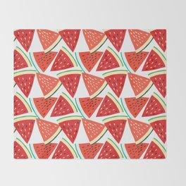 Sliced Watermelon Throw Blanket