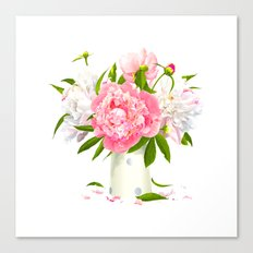 Pink and White Roses Canvas Print