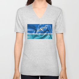 Midway Islands Flag Unisex V-Neck
