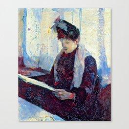 """Henri de Toulouse-Lautrec """"""""Femme in a café"""" Canvas Print"""