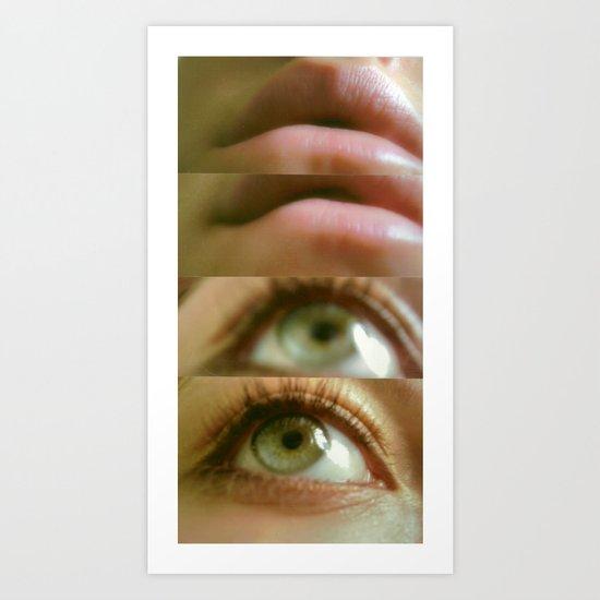 Eyes and Lips. Art Print