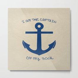 I am the Captain Metal Print