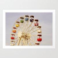 ferris wheel Art Prints featuring Ferris Wheel by Elsa Harley