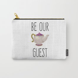 Be our Guest Hand painted teapot hand print Carry-All Pouch