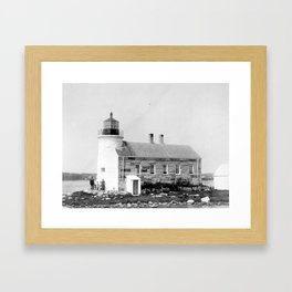 Prospect Harbor Point Lighthouse  Framed Art Print