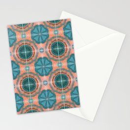 Portuguese Tiles Azulejos Blue Red Pattern Stationery Cards