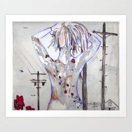 Exposed Ink Art Print