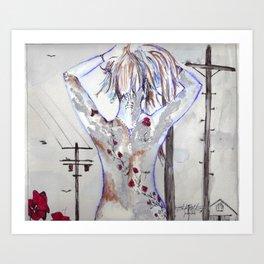 Exposed Ink Art Print