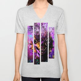 Split-Face Unisex V-Neck