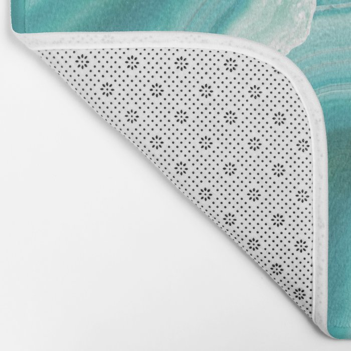 Geodes in Turquoise Crystal Bath Mat
