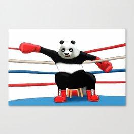 Boxing Panda Canvas Print