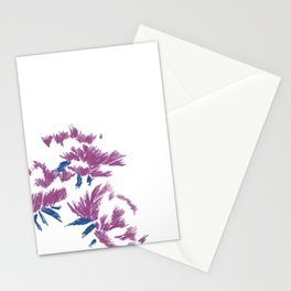 Japanese peonies - purple and blue Stationery Cards