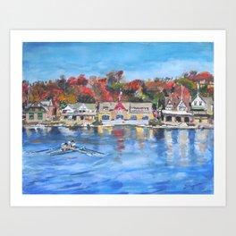 Boathouse Row, Philadelphia Art Print