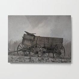 Left Behind - An Old Wagon Metal Print