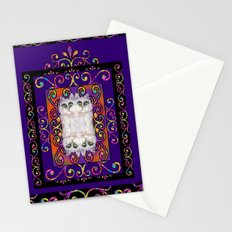 CAT ARABESQUE GYPSY PURPLE BLUE Stationery Cards