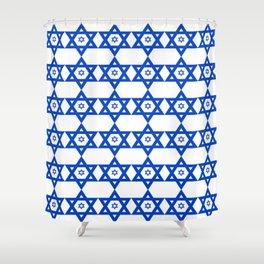 Star of David 23- Jerusalem -יְרוּשָׁלַיִם,israel,hebrew,judaism,jew,david,magen david Shower Curtain