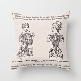 Effects of Corseting Throw Pillow