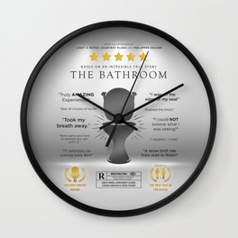 The Bathroom Funny Parody Movie Poster Sign Wall Clock