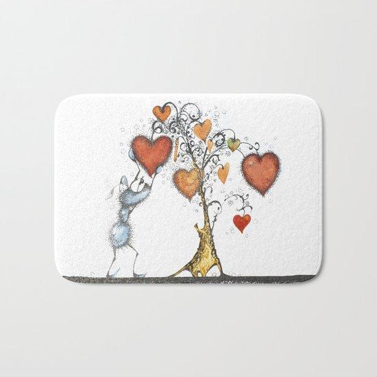Tree of hearts Bath Mat