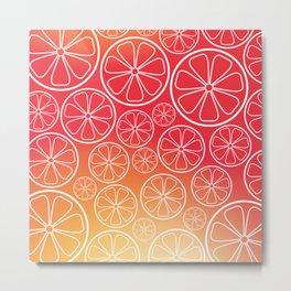 Citrus slices (red/orange) Metal Print