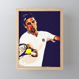 Roger Federer Pop Art copy Framed Mini Art Print