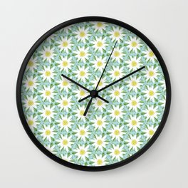 Edelweiss On Repeat Wall Clock