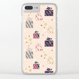 Festive design. Gifts . Clear iPhone Case