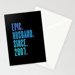 Epic husband since 2007 marriage wedding Stationery Cards