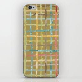 Parisian Casual Watercolor Plaid iPhone Skin