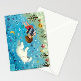 Travel the night sky Stationery Cards