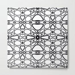 fancy grid Metal Print