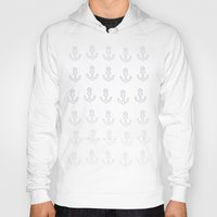 anchors Hoodies featuring Anchors Aweigh! by Leah Flores