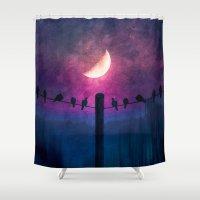 agnes Shower Curtains featuring Symphony (colour option) by Viviana Gonzalez