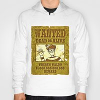 waldo Hoodies featuring Where's Waldo Wanted Poster by Silvio Ledbetter