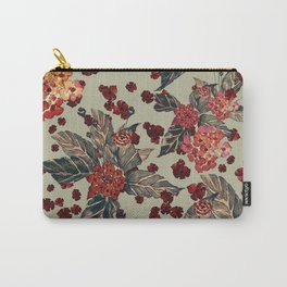 Deep moody floral watercolor Carry-All Pouch
