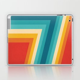Colorful Retro Stripes  - 70s, 80s Abstract Design Laptop & iPad Skin