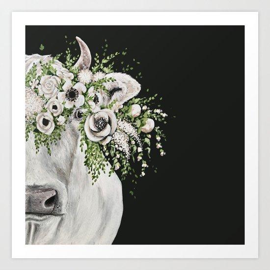 Fancy the Cow Art Print