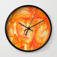 body Wall Clocks featuring Body by Ricardo Patino
