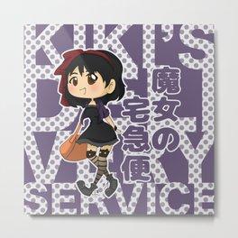 Grown-Up Ghibli - Kiki Metal Print