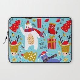 ho ho christmas pattern Laptop Sleeve
