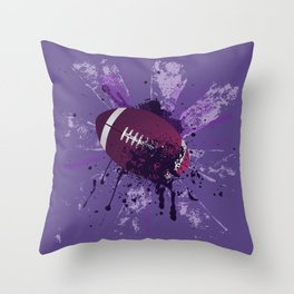 Grunge Rugby Throw Pillow