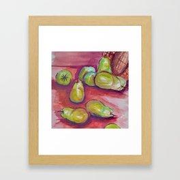 Watercolor Pears Framed Art Print
