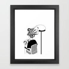 Octopus Salon Framed Art Print