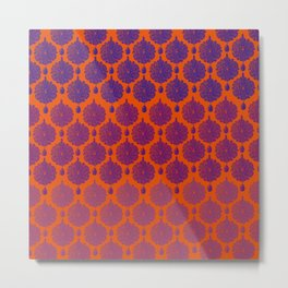 Orange Mughal Metal Print