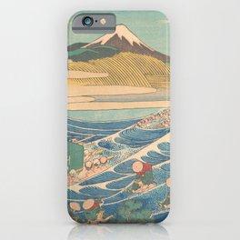 Fuji Seen from Kanaya on the Tōkaidō, Series Thirty-six Views of Mount Fuji by Katsushika Hokusai iPhone Case